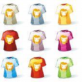 isolated kid t-shirt set