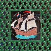 Old Sailship In Metal