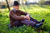 Old Farmer Resting