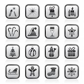 Christmas and new year icons