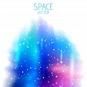 space blue background
