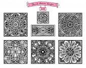Hand-drawn design patterns, in vintage style set 2.