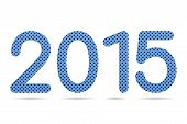 2015 Numeric From Blue Color Perforated Metal Sheet Texture