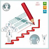 Infographics Office Men