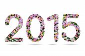 2015 Numeric From Flower Background
