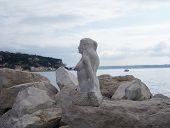 Statue of mermaid in Piran, Slovenia