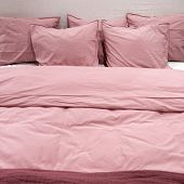 Bed With Pink Bedclothes