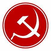 Hammer And Sickle Sign Button