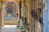 picture of arcade  - Zagreb mirogoj cemetary arcades view capital of Croatia - JPG