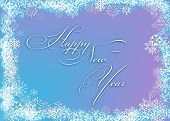 Snowflakes Frame Background - Happy New Year