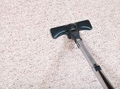 Carpeting Vacuuming With Vacuum Cleaner