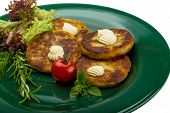 pic of hash  - Hash browns with herbs on the plate - JPG