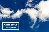 Vector abstract concept white cloud on blue sky background illustration.