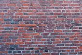 Red Brick Wall In Boston, Massachusetts - Usa