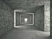 3d image of abstract tunnel