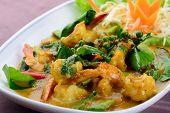 Stir Fried Shrimp With Chili Paste, Thai Cuisine