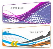 Abstract different type color wave element vector backgrounds for design.