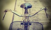 picture of dynamo  - Close up Detail of old bicycle vintage style - JPG