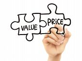 Value And Price Words Written By Hand