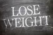 Lose Weight written on blackboard