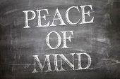 Peace of Mind written on blackboard