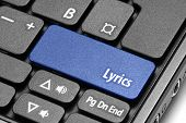 Lyrics. Blue Hot Key On Computer Keyboard