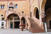 Staircase Of Reason In Courtyard  The Palazzo Della Ragione In Verona, Italy