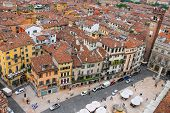 Red Roofs Of The City Center. Verona, Italy