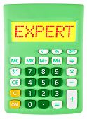 Calculator With Expert On Display Isolated