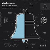 Christmas Bell Design Vector Background