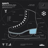 Ice Skate Design Vector Background