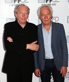NEW YORK-OCT 5: Director Jean-Pierre Dardenne (L) & producer Luc Dardenne attend the 'Two Days, One Night' premiere at New York Film Festival at Alice Tully Hall on October 5, 2014 in New York City.