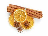 Dried Oranges With Cinnamon And Anise