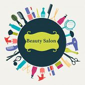 Постер, плакат: Hair Beauty Salon Background illustration