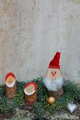 Rustic Homemade Christmas Decoration With Gnomes