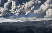 foto of mountain-ash  - Ash cloud fallout from the Eyjafjallajokull eruption in Iceland - JPG