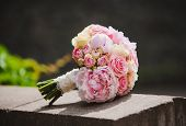 stock photo of bouquet  - wedding flowers colorful bouquet - JPG