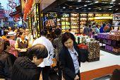 Visitors Visit The Famous Souvenir Street In Macau