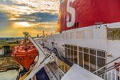 Ferry Stena Spirit, Ship Standing In The Terminal Kwiatkowski In Gdynia