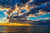Sea And Beach, Beautiful Sunset At The Beach