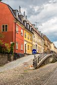 Narrow Street In Stockholm, Sweden