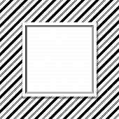 Black And White Striped Background With Frame