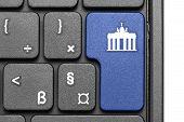 Go To Berlin!. Blue Hot Key On Computer Keyboard.