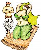 Genie And Harem Woman