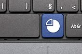 Graph Chart. Blue Hot Key On Computer Keyboard.