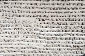 White Brick Wall. Grungy white concrete wall
