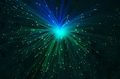 Abstract Fiber Optics Background