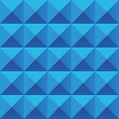 Abstract blue geometric squares seamless pattern