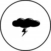 foto of lightning  - cloud with lightning symbol - JPG