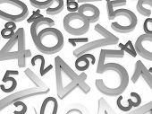 image of zero  - Background of numbers - JPG